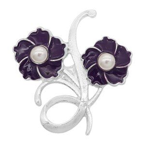 Purple Flowers Snap for Snap Jewelry
